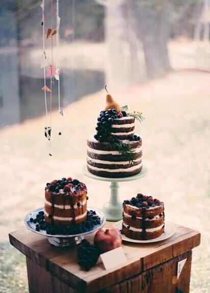 纯朴爱滋味 婚礼新宠裸蛋糕的诱惑