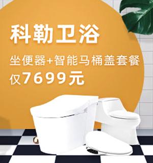 坐便器+智能马桶盖套餐仅7699元